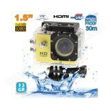YONIS Caméra sport étanche 30m caméra action Full HD 1080p 12MP Jaune 32Go