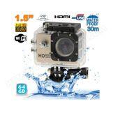 YONIS Caméra sport WiFi embarquée plongée caisson 12MP HD 1080P Or 64 Go