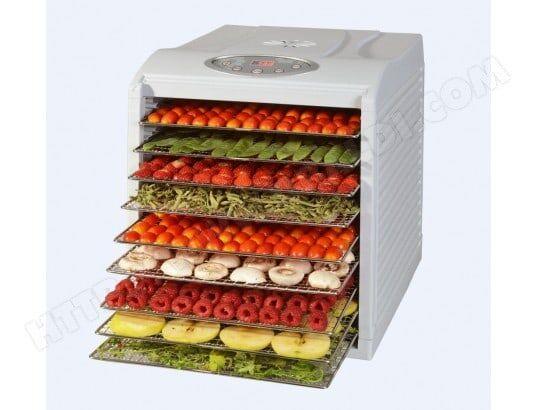 Kitchen Chef KYS333D Déshydrateur de fruits et légumes 9 Niveaux 650 W