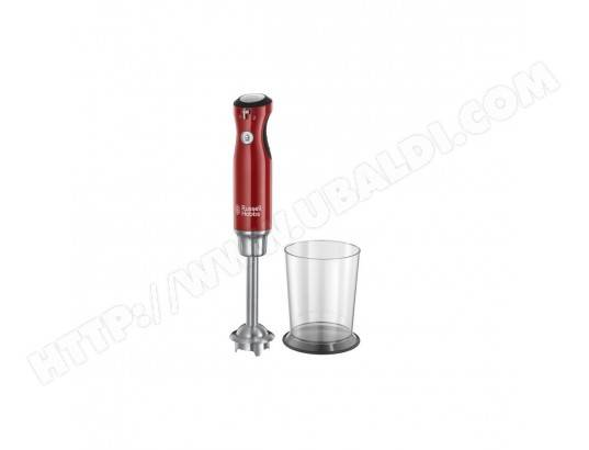 RUSSELL HOBBS 25230-56 - Mixeur plongeant Retro - 700 W - Rouge