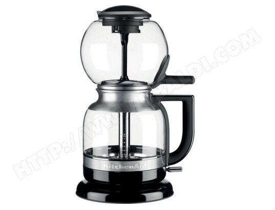 KITCHENAID cafetière à dépression 8 tasses 1l verre/inox - 5kcm0812eob