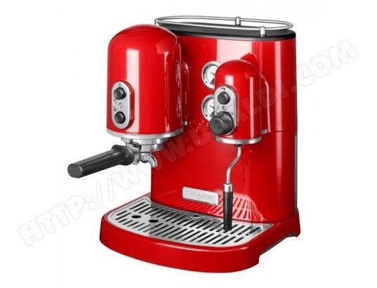 KITCHENAID machine à espresso 15 bars rouge empire - 5kes2102eer
