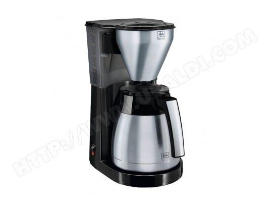 Melitta Cafetière Isotherme Noir Acier Inoxydable 1050W 10 Tasses 1010-11