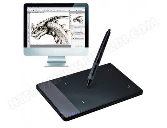 yonis mini tablette graphique windows mac palette dessin 4x2.34' 4000 lpi