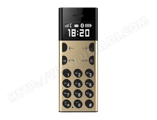 YONIS Mini Telephone Portable GSM Position LBS Bluetooth 2G Radio FM Or