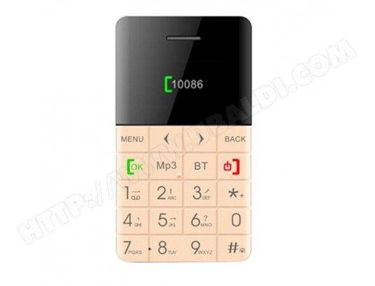 YONIS Micro Smartphone Bluetooth Mini Telephone Portable Ecran OLED FM MP3 Or