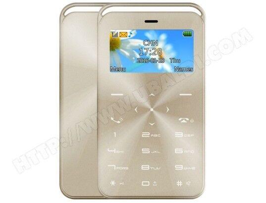 YONIS Mini Telephone Portable Débloqué Bluetooth Alarme Radio Lecteur MP3 Jeux Calendrier Or