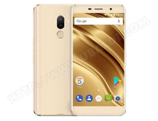 YONIS Smartphone Android 7.0 Dual SIM 4G 5.3 Pouces Empreintes Digitales Quad Core 2GB+16GB Or
