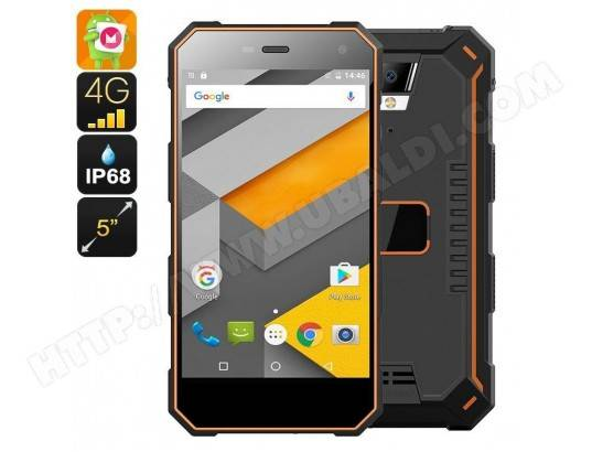 YONIS Smartphone Etanche Incassable 4G 5 Pouces Android 6.0 Quad Core 16Go