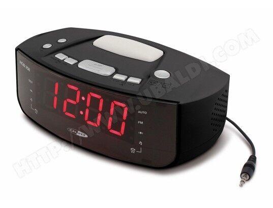 CALIBER Radio-réveil FM numérique PLL équipé d'une prise d'entrée AUX et d'une lampe-réveil/veilleuse - Caliber HCG101