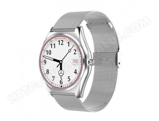 yonis montre connectée 1.3 pouces smartwatch tactile tft appel bluetooth anti-perte cardio podomètre argent