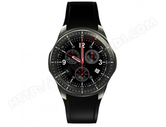 YONIS Montre Android Smartwatch Bluetooth Cardio GPS Podomètre Carte SIM 3G Ecran AMOLED 8GB Noir