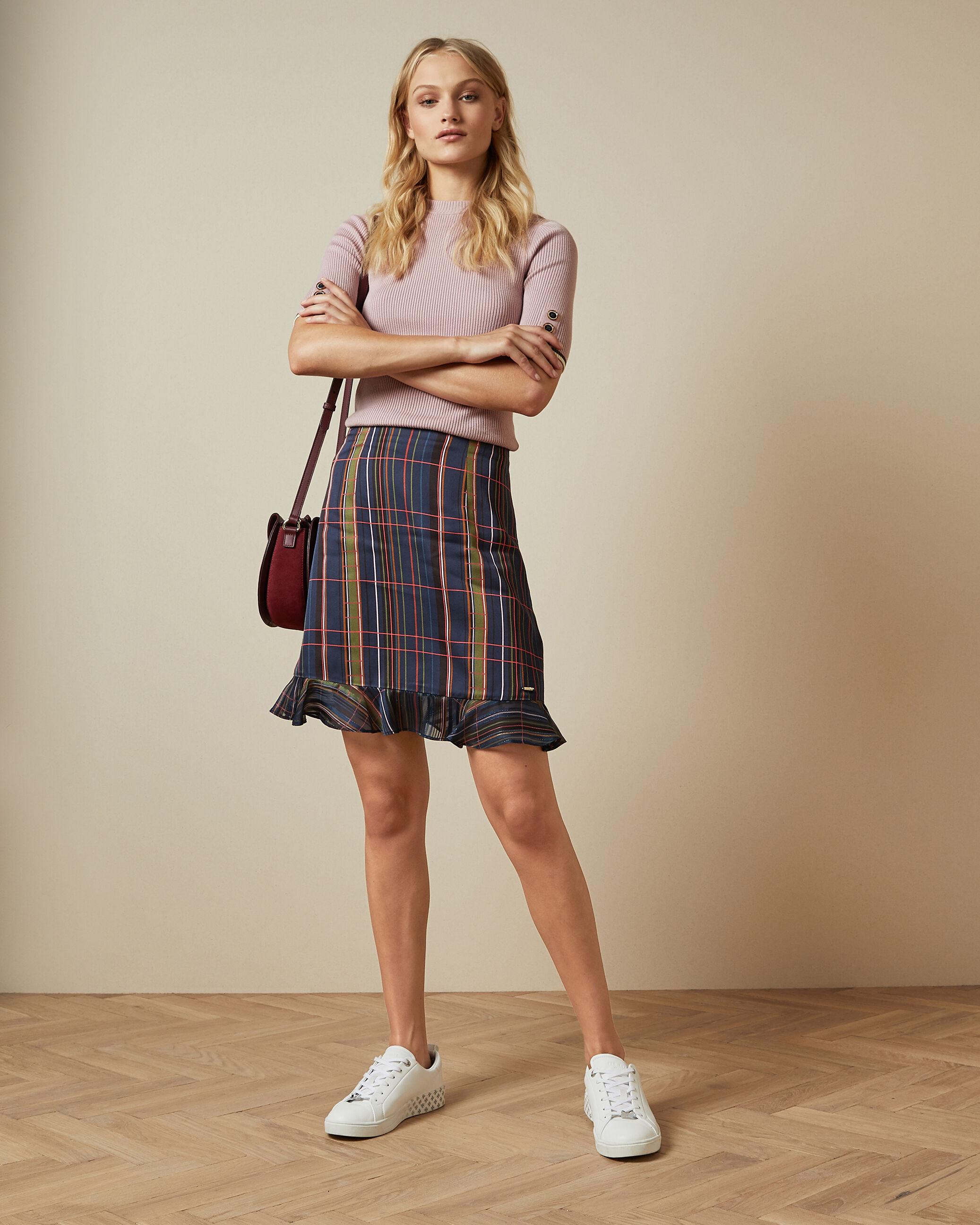 Checked Mini Skirt