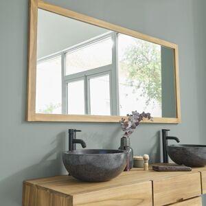BOIS DESSUS BOIS DESSOUS Miroir en bois de teck 160 BOIS DESSUS BOIS DESSOUS - Publicité