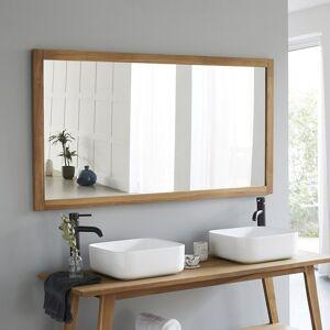 BOIS DESSUS BOIS DESSOUS Miroir rectangulaire en bois de teck 150 cm - Publicité