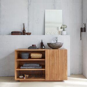 BOIS DESSUS BOIS DESSOUS Meuble de salle de bain en bois de teck 120 BOIS DESSUS BOIS DESSOUS - Publicité