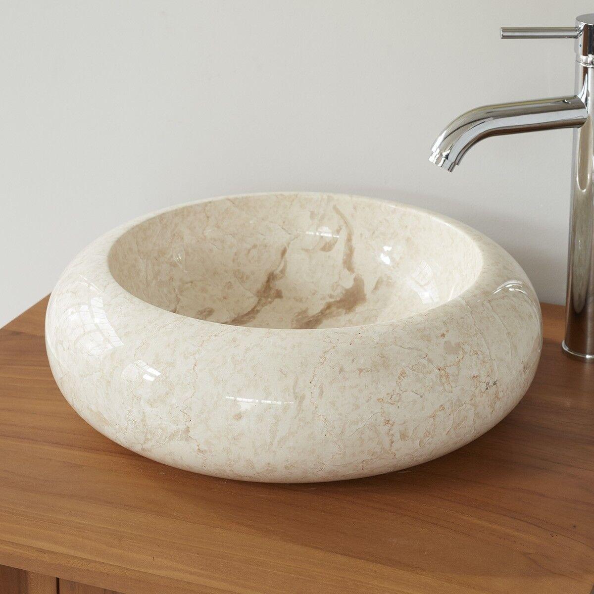 BOIS DESSUS BOIS DESSOUS Vasque donuts en pierre de marbre BOIS DESSUS BOIS DESSOUS