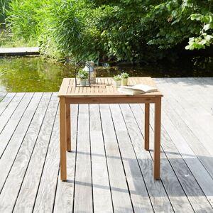 BOIS DESSUS BOIS DESSOUS Table de jardin carrée en bois d'acacia BOIS DESSUS BOIS DESSOUS - Publicité