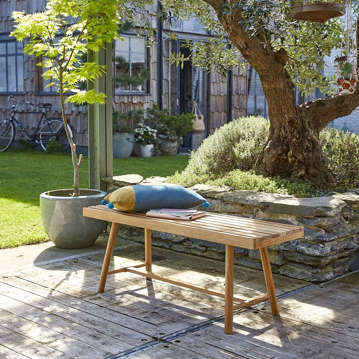BOIS DESSUS BOIS DESSOUS Banc de jardin en teck 120 cm BOIS DESSUS BOIS DESSOUS