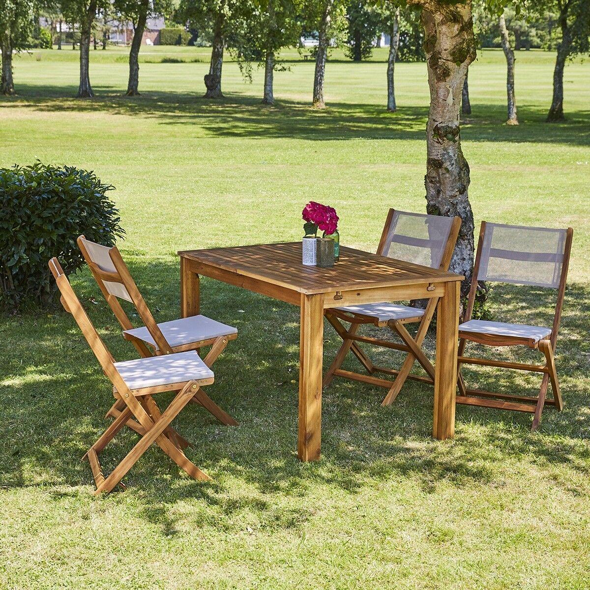BOIS DESSUS BOIS DESSOUS Salon de jardin extensible en bois d'acacia 4 à 8 places BOIS DESSUS BOIS DESSOUS