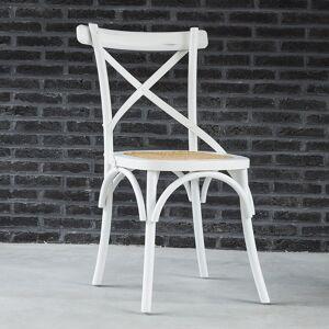 BOIS DESSUS BOIS DESSOUS Chaise bistrot en bois d'acajou et rotin LONDRES BOIS DESSUS BOIS DESSOUS - Publicité
