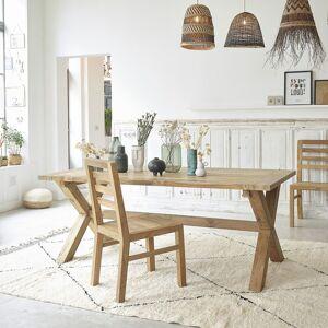 BOIS DESSUS BOIS DESSOUS Table en bois de teck recyclé 6 à 8 couverts BOIS DESSUS BOIS DESSOUS - Publicité
