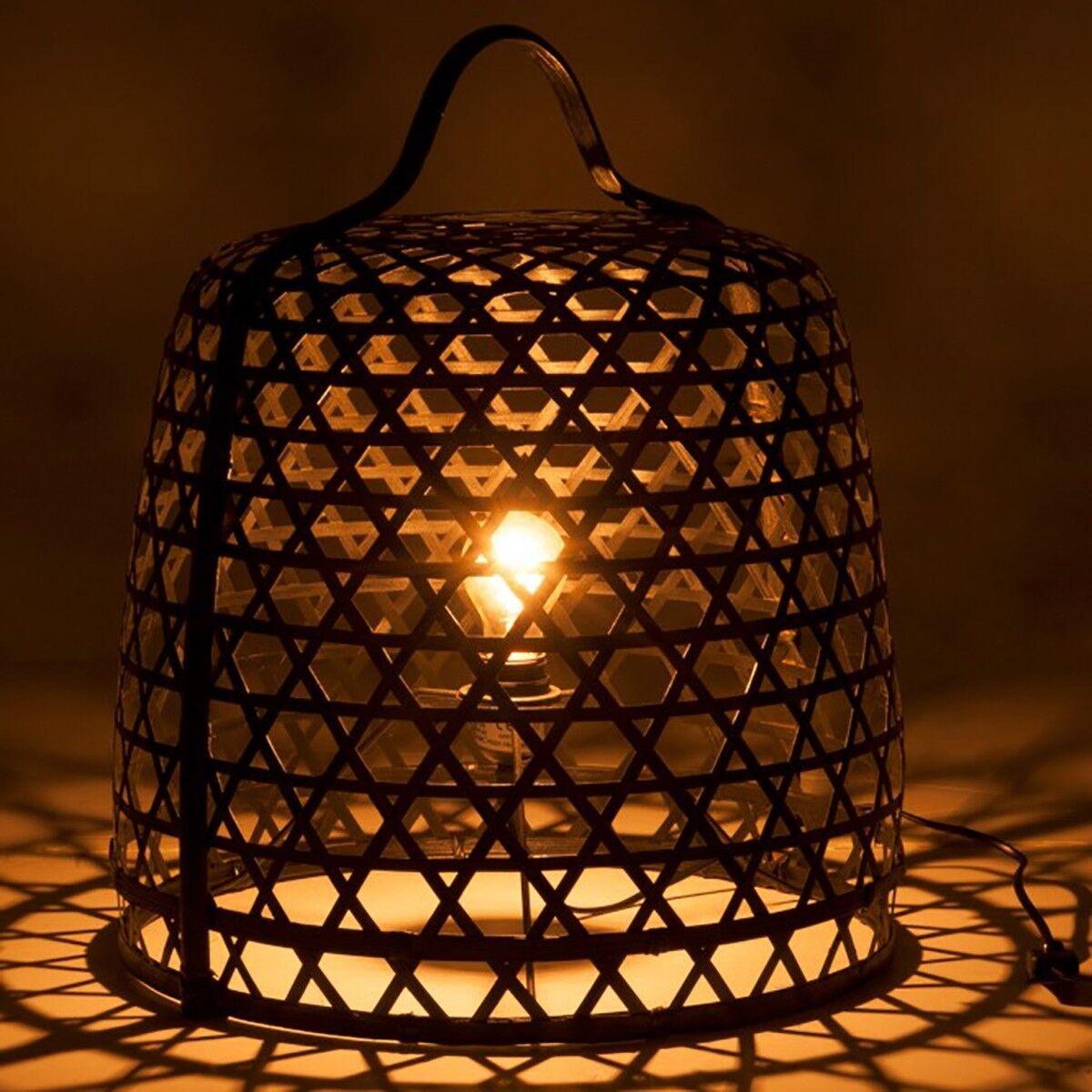 BOIS DESSUS BOIS DESSOUS Lampe à poser en bambou noir et métal BOIS DESSUS BOIS DESSOUS