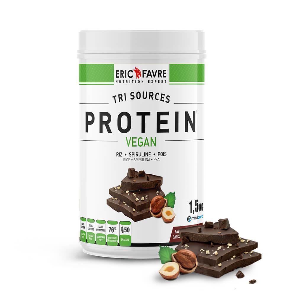 Eric Favre Protéines végétales tri-source, Protein Vegan, Chocolat/ Noisette - Eric Favre