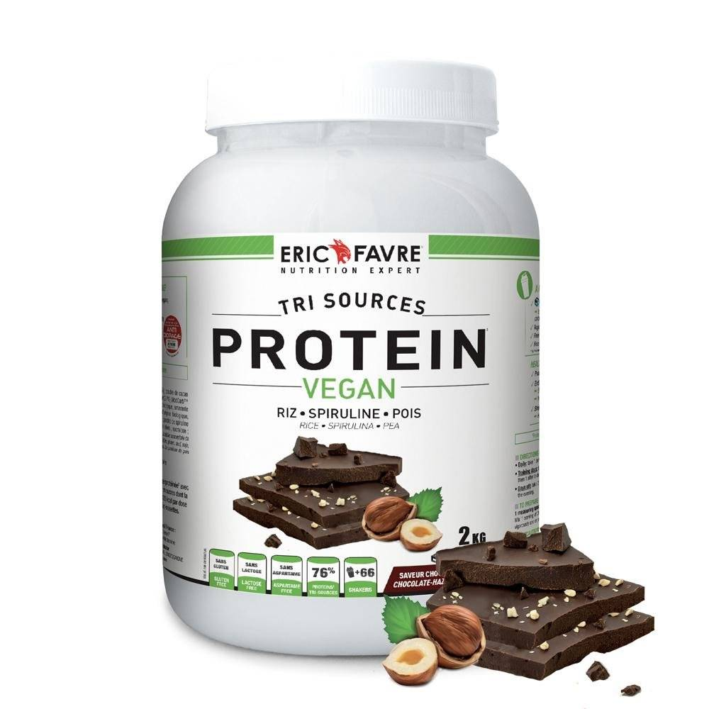 Eric Favre Protéines végétales tri-source, Protein Vegan, Chocolat/Noisette - Eric Favre