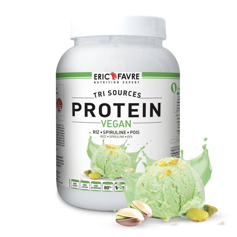 Eric Favre Protéines végétales tri-source, Protein vegan, Pistache - Eric Favre