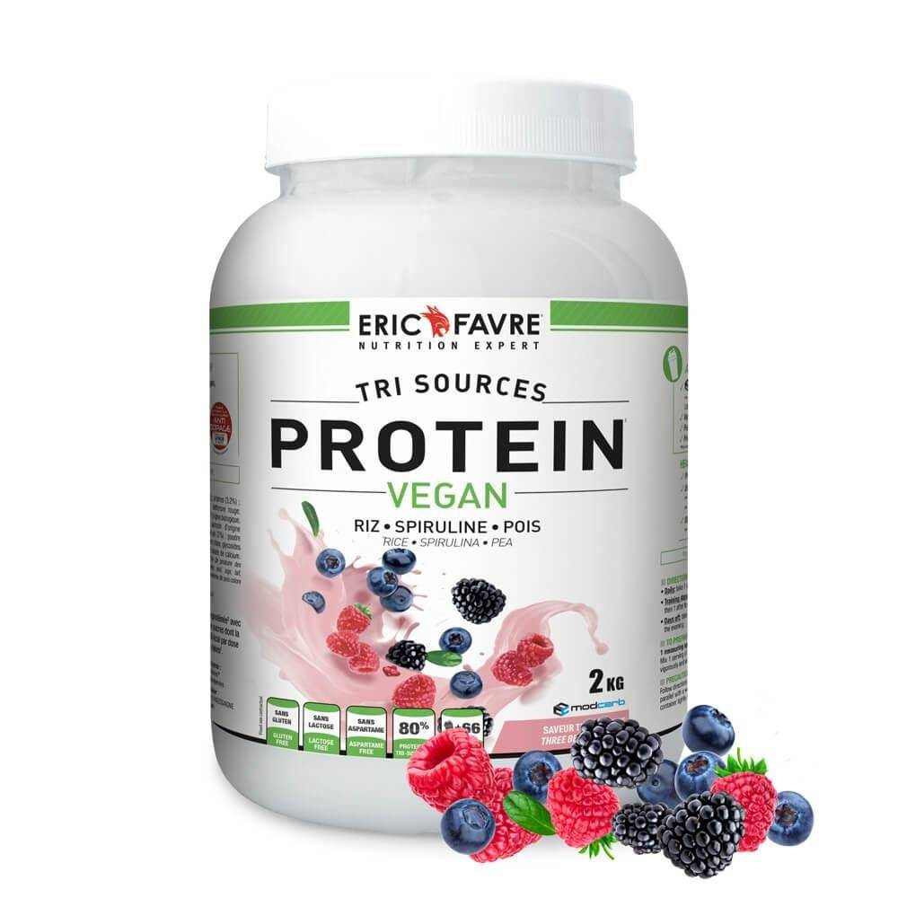 Eric Favre Protéines végétales tri-source, Protein Vegan, Triple Berry ( Fruit rouge ) - Eric Favre