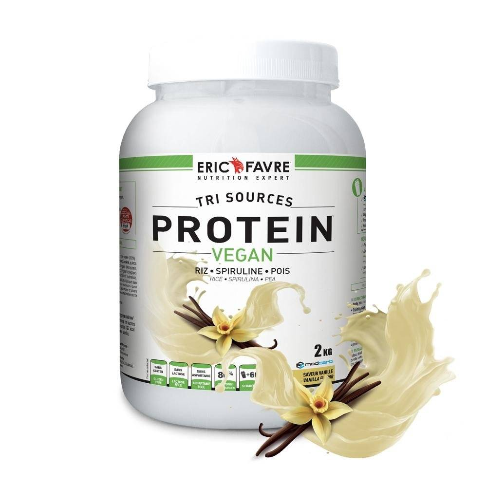 Eric Favre Protéines végétales tri-source, Protein Vegan, Vanille - Eric Favre