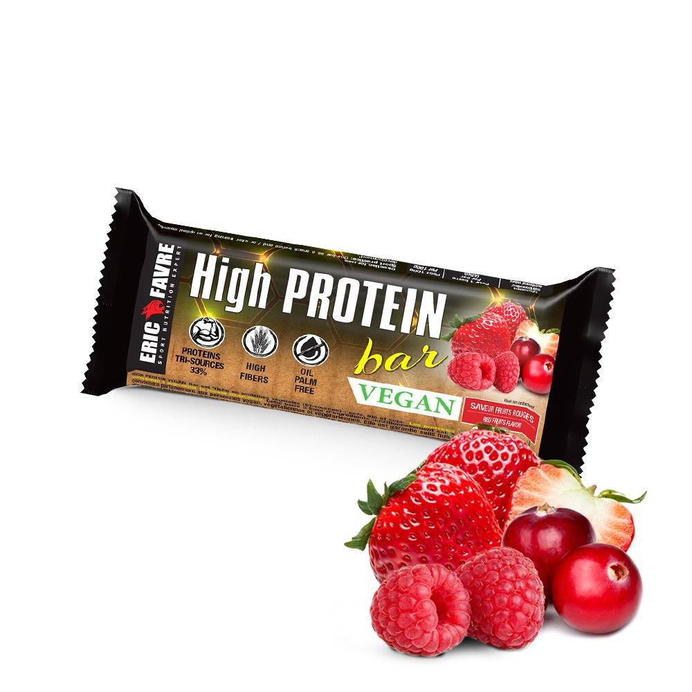 Eric Favre Sport Nutrition Expert High Protein bar vegan - Bar de collation hyperprotéinée