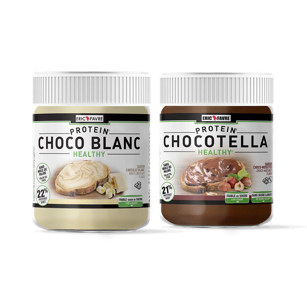 Eric Favre Sport Nutrition Expert Chocotella Healthy / Choco blanc - pâte chocolat protéinée à tartiner