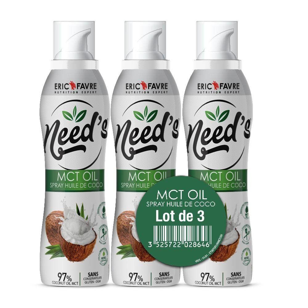 Eric Favre Need's MCT Oil - Spray Cuisson Coco - Lot de 3 - Eric Favre