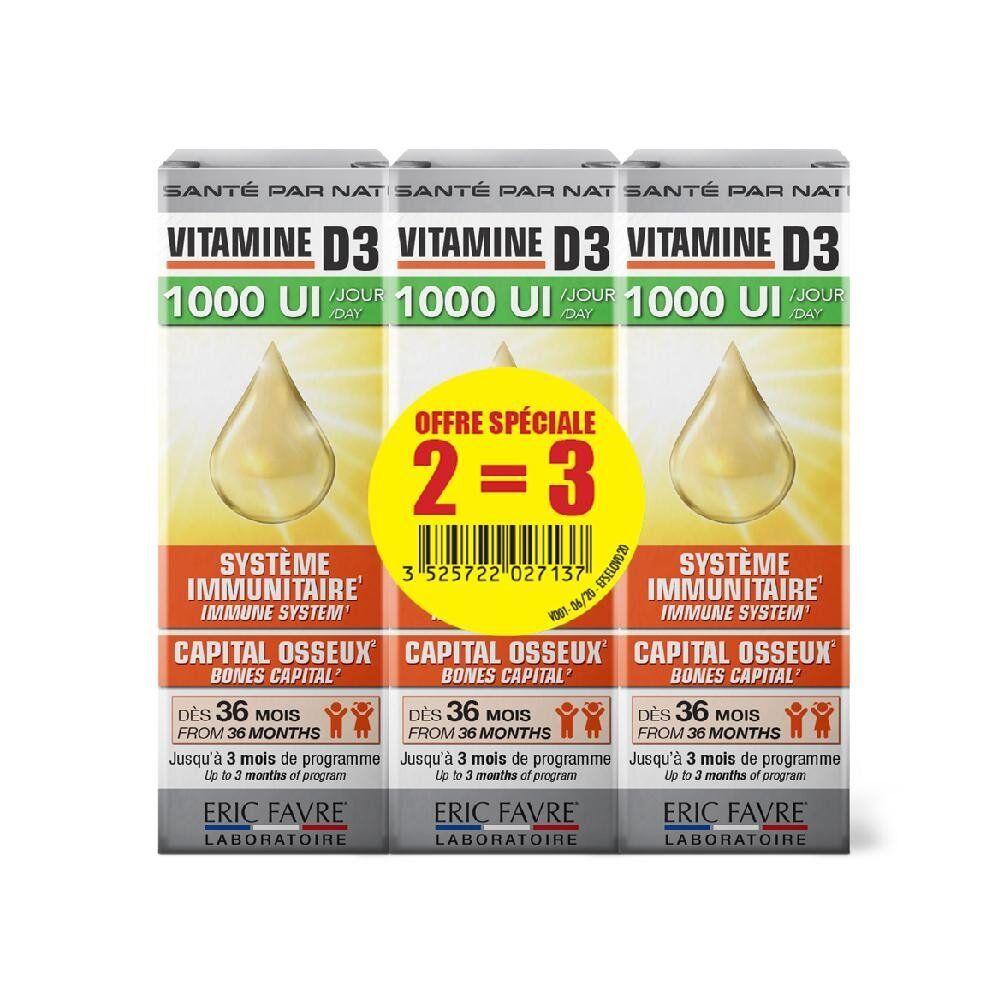 Eric Favre Vitamine D3 - Lot de 3 - Eric Favre
