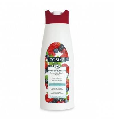 Shampoing douche fruits rouges - 750ml bio - Coslys