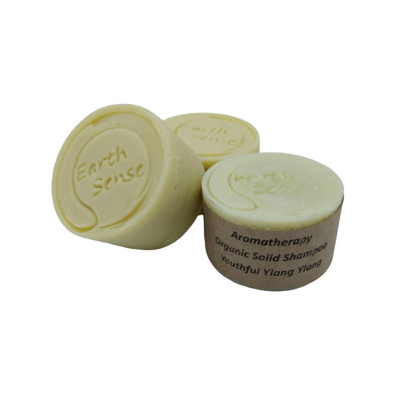 Earth Sense Shampoing solide cheveux normaux - Ylang ylang - 60g