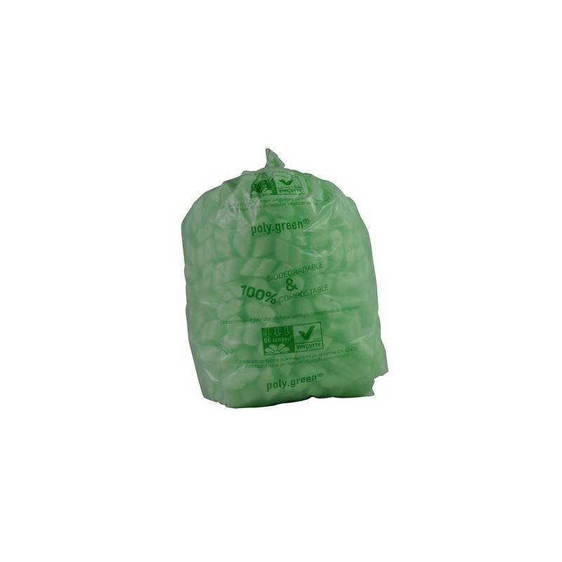 Polygreen Sacs poubelle biodégradables 60 litres - x10