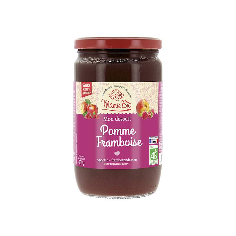 Mamie Bio Compote pomme framboise - 680g
