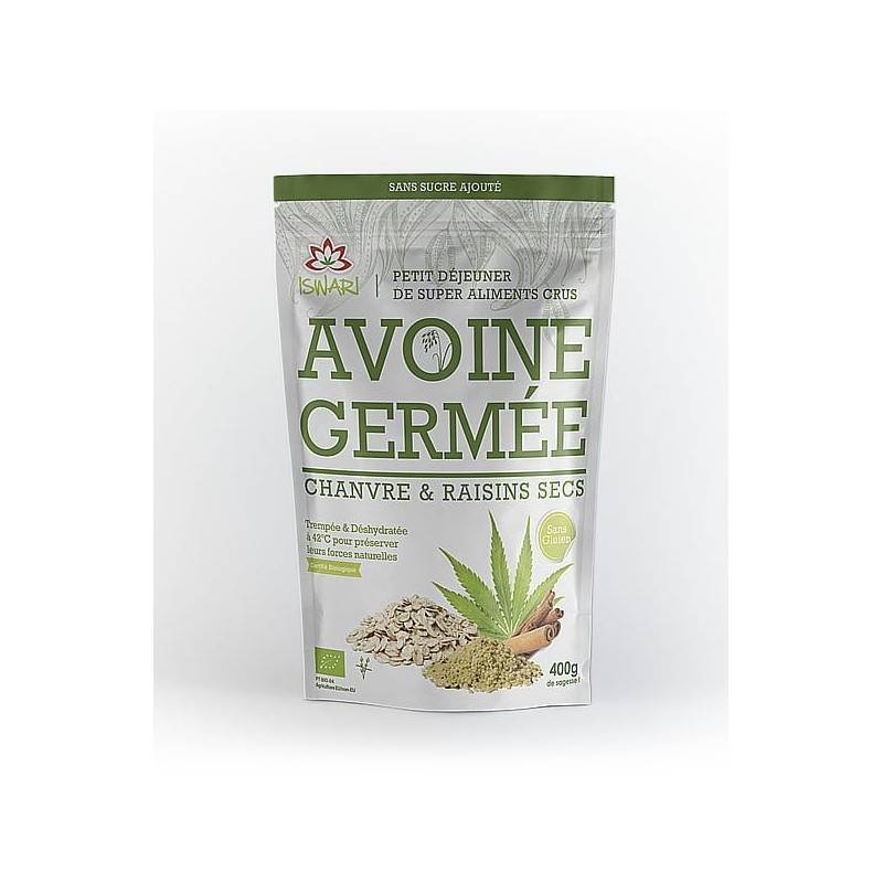 Iswari Avoine germé chanvre raisin sec - 400g