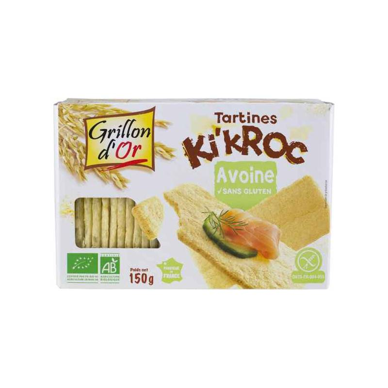Grillon d'Or Tartines Ki'kroc avoine - 150g