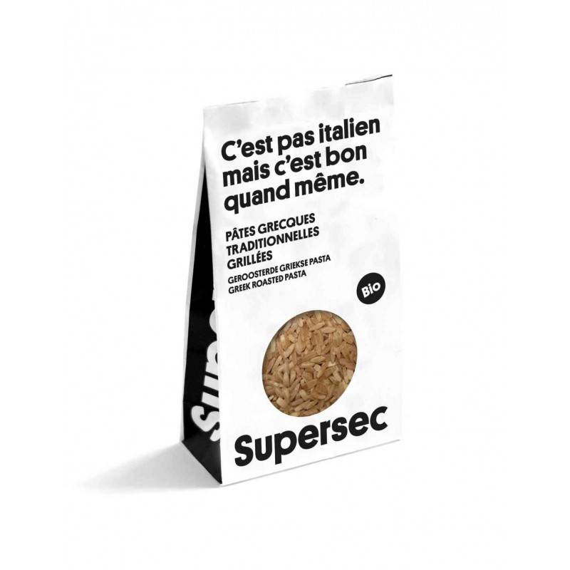 Pâtes grecques - Risoni - 350g bio - Supersec