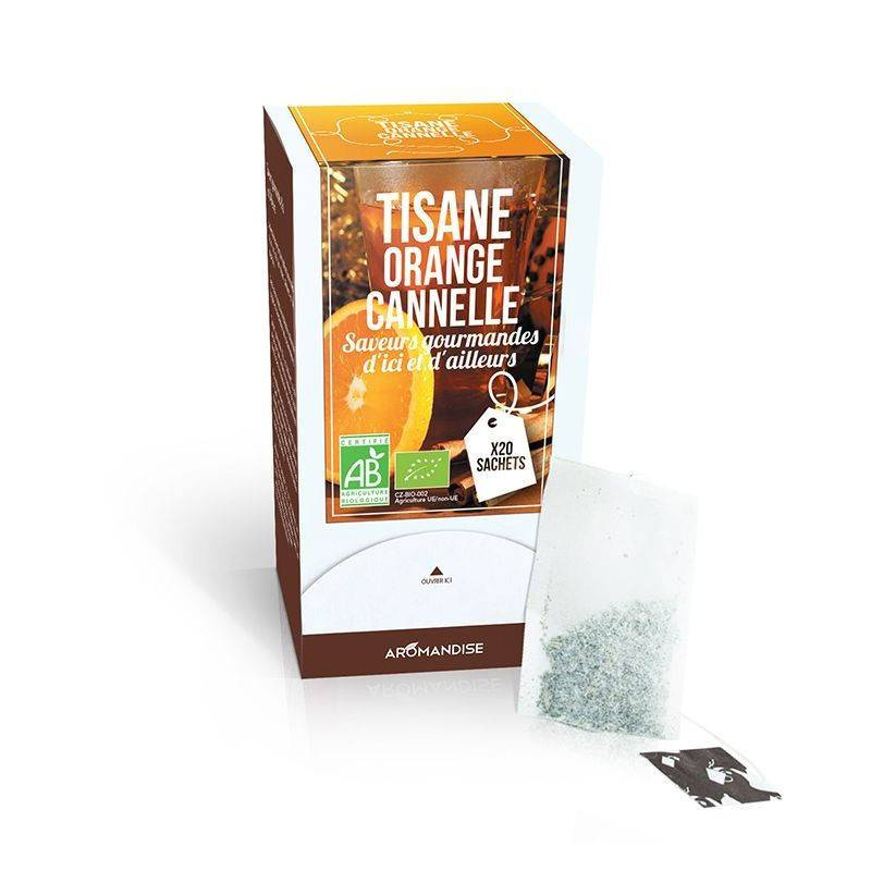 Aromandise Tisane orange cannelle - 20 sachets