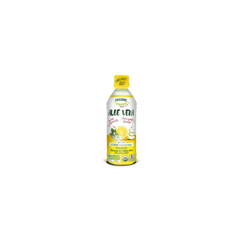Boisson aloe vera citron - 350 ml bio - Organic Crunch