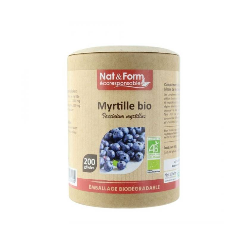 Myrtille - 200 gélules bio - Nat & Form