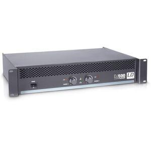 LD Systems DJ 500 Amplificateur Sono 2 x 250 W 4 Ohms - Étages de sortie bicanaux - Publicité