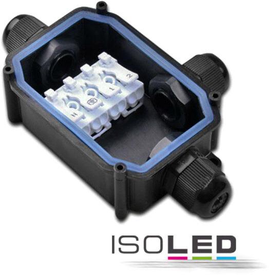 ISOLED Connecteur de câbles Y IP67, raccord fileté + bornes bouton-poussoir 2x4 pôles - Accessoires divers