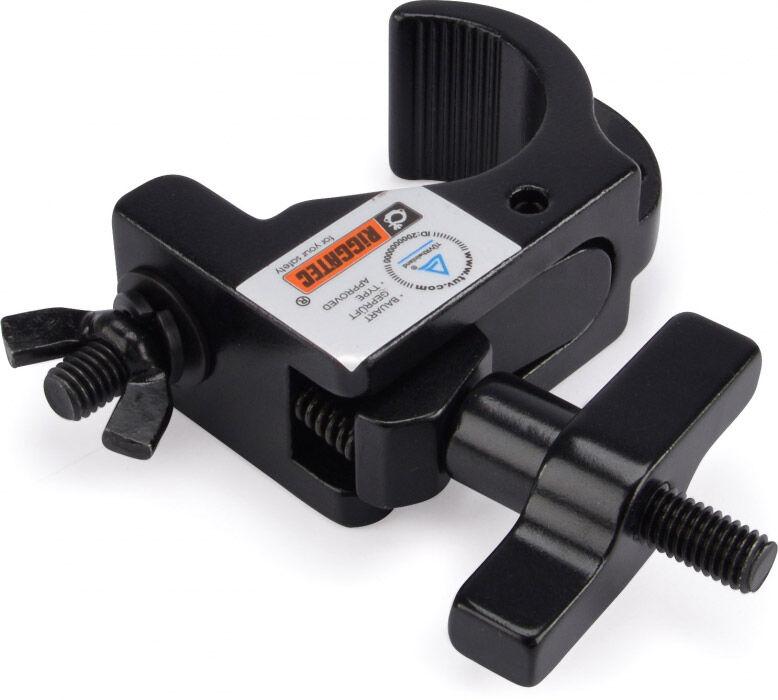 Riggatec Smart Hook Slim Clamp - Noir jusqu'à 200 kg (48 - 51 mm) - Pinces