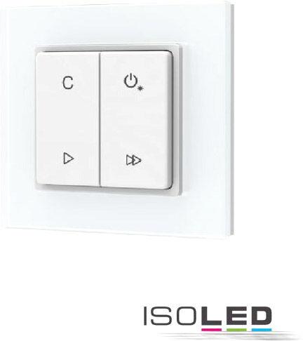 ISOLED Sys-pro Télécommande murale à bouton poussoir sur batterie, RVB ou RVB+W, 1 circuit - Accessoires divers